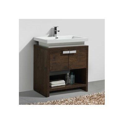 Levi 29.5 Single Modern Bathroom Vanity Set Base Finish: Rose Wood