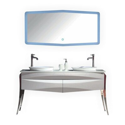 Riso 64 Double Sink Modern Bathroom Vanity