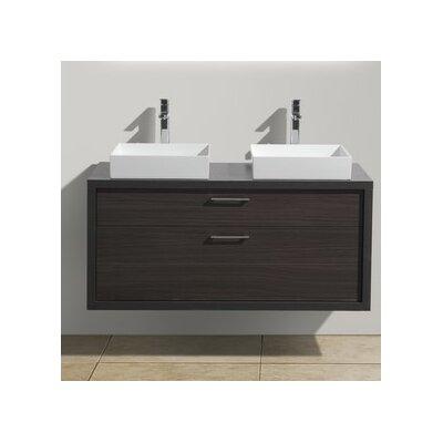 Tucci 48 Double Sink Modern Bathroom Vanity Base Finish: Dark Gray