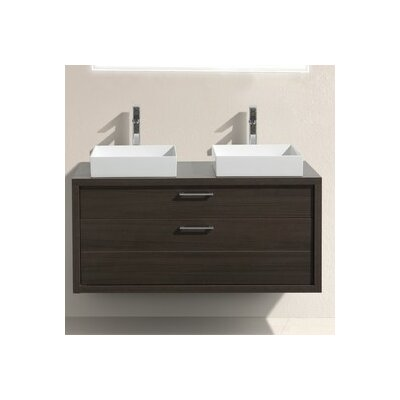 Tucci 48 Double Sink Modern Bathroom Vanity Base Finish: Gray