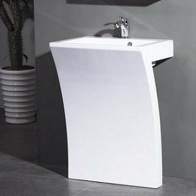 Sette 24 Pedestal Bathroom Sink with Overflow