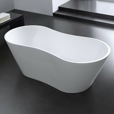 Onde 66 x 29.75 Freestanding Soaking Bathtub