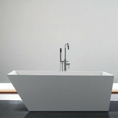 Obliquo 66.25 x 31.13 Freestanding Soaking Bathtub