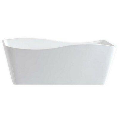 Ondulato 59.13 x 30.25 Freestanding Soaking Bathtub
