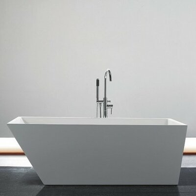 Obliquo 59.25 x 29 Freestanding Soaking Bathtub