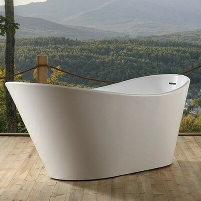 Lavello 71 x 31.5 Freestanding Soaking Bathtub