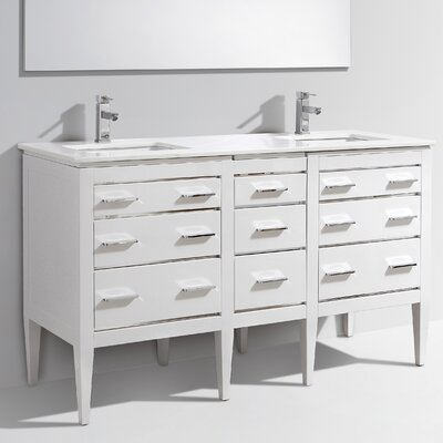 Eiffel 59 Double Bathroom Vanity Set