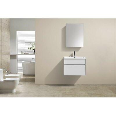 Brockman 24 Single Bathroom Vanity Set Base Finish: White Gloss