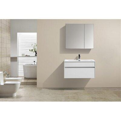 Brockman 32 Single Bathroom Vanity Set Base Finish: White Gloss