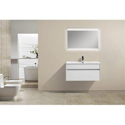 Brockman 36 Single Bathroom Vanity Set Base Finish: White Gloss