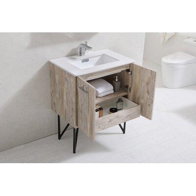 Ellison Nature Wood 30 Single Bathroom Vanity Mirror