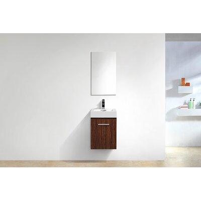 Tenafly Wall Mount Modern 16 Single Bathroom Vanity Base Finish: Walnut