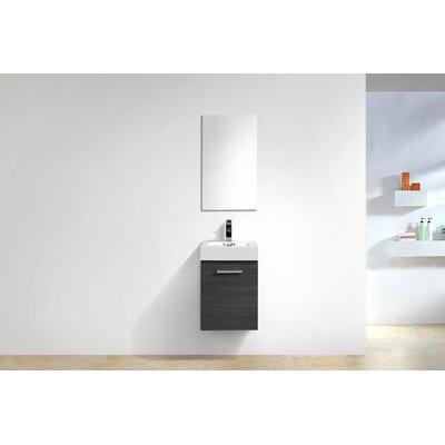 Tenafly Wall Mount Modern 16 Single Bathroom Vanity Base Finish: Gray Oak