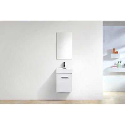 Tenafly Wall Mount Modern 16 Single Bathroom Vanity Base Finish: High Gloss White