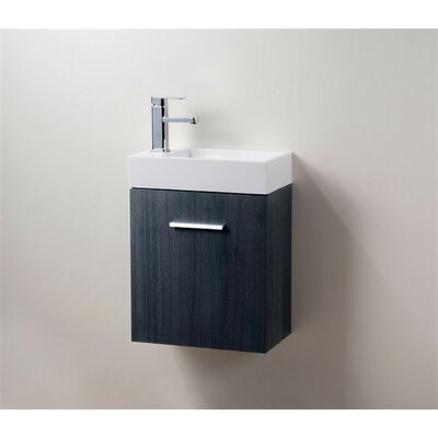 Tenafly 18 Single Wall Mount Modern Bathroom Vanity Set Base Finish: Gray
