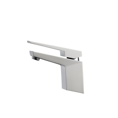 Aqua Siza Single Lever Modern Bathroom Faucet Finish: Matte White