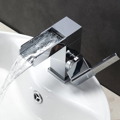 Aqua Fontana Single Lever Waterfall Bathroom Faucet