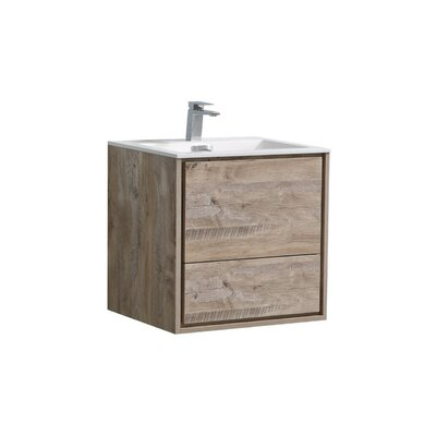 Trieu 24 Single Bathroom Vanity Set Base Finish: Nature Wood