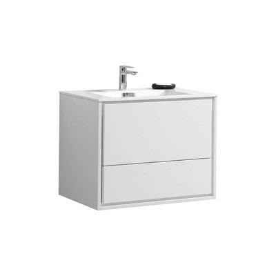 Trieu 30 Single Bathroom Vanity Set Base Finish: Gloss White