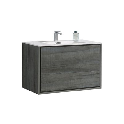 Trieu 36 Single Bathroom Vanity Set Base Finish: Ocean Gray