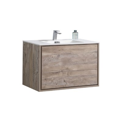 Trieu 36 Single Bathroom Vanity Set Base Finish: Nature Wood
