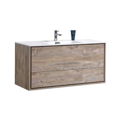 Trieu 48 Single Bathroom Vanity Set Base Finish: Nature Wood