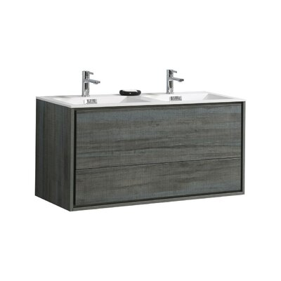 Trieu 48 Double Bathroom Vanity Set Base Finish: Ocean Gray