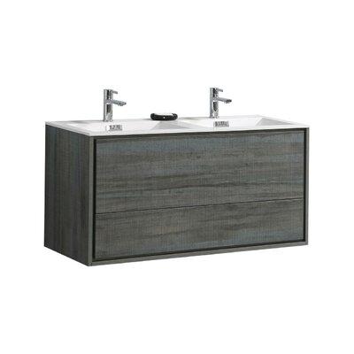 Trieu 48 Double Bathroom Vanity Set Base Finish: Ocean Gray