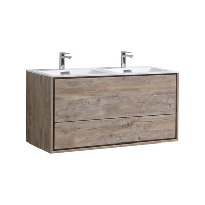Trieu 48 Double Bathroom Vanity Set Base Finish: Nature Wood