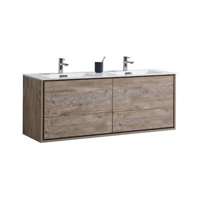 Trieu 60 Double Bathroom Vanity Set Base Finish: Nature Wood