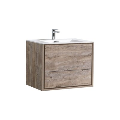 Trieu 30 Single Bathroom Vanity Set Base Finish: Nature Wood
