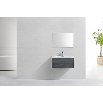 Colton Ocean Wall Mount Modern 30 Single Bathroom Vanity