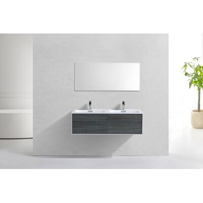 Colton Ocean Wall Mount Modern 48 Double Bathroom Vanity