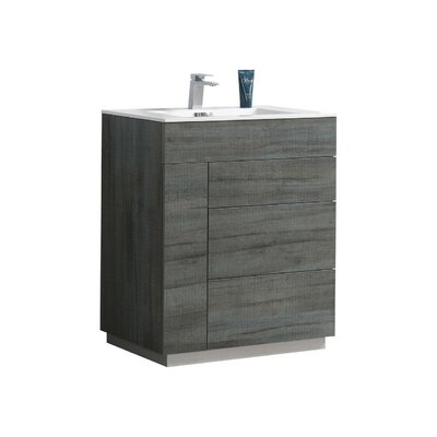 Ebling 35 Single Bathroom Vanity Set Base Finish: Gray