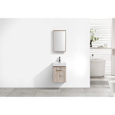 Tenafly Wall Mount Modern 16 Single Bathroom Vanity Base Finish: Nature Wood