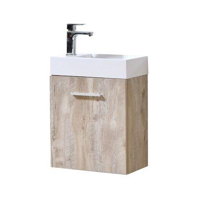 Tenafly 18 Single Wall Mount Modern Bathroom Vanity Set Base Finish: Nature Wood