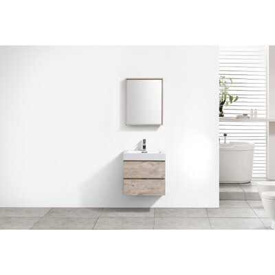 Tenafly 24 Single Wall Mount Modern Bathroom Vanity Set Base Finish: Nature Wood