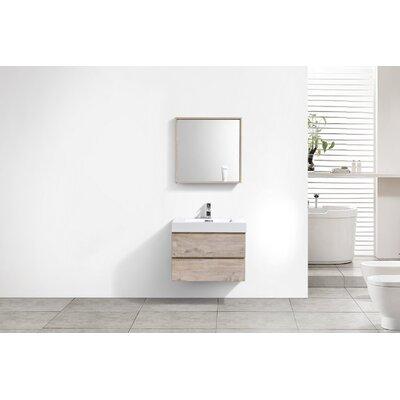 Tenafly 30 Single Wall Mount Modern Bathroom Vanity Set Base Finish: Nature Wood
