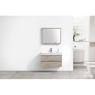 Tenafly 36 Single Wall Mount Modern Bathroom Vanity Set Base Finish: Nature Wood
