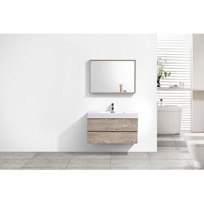 Tenafly 40 Single Wall Mount Modern Bathroom Vanity Set Base Finish: Nature Wood