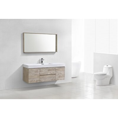 Tenafly 60 Single Bathroom Vanity Set Base Finish: Nature Wood