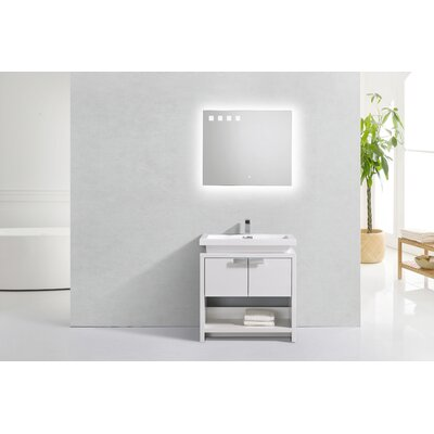 Haycraft Modern Cubby Hole 32 Freestanding Single Bathroom Vanity