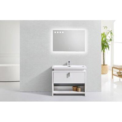 Haycraft Modern Cubby Hole 40 Freestanding Single Bathroom Vanity