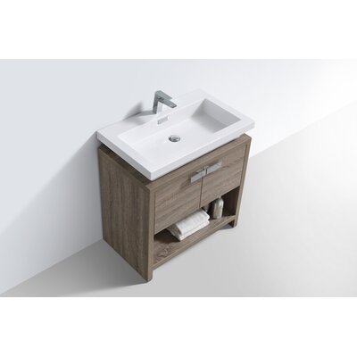 Haycraft 31.5 Single Modern Bathroom Vanity Set Base Finish: Havana Oak