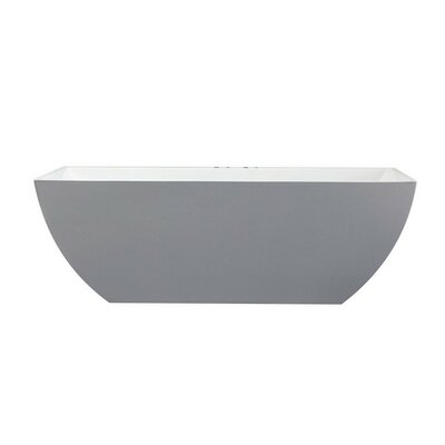 Freestanding Soaking Bathtub Size: 24 H x 67.25 W x 29.5 D