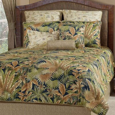 Bahamian 4 Piece Comforter Set Size: Queen