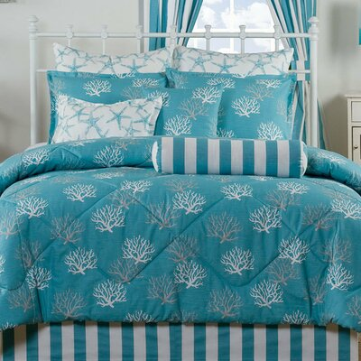 Captiva 4 Piece Comforter Set Size: Queen