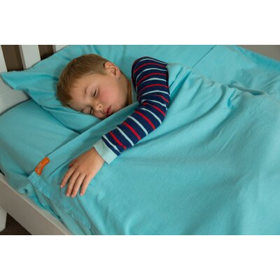 Cotton Kids Sheet Set Size: Twin, Color: Aqua