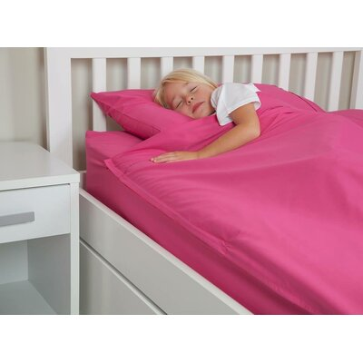 Cotton Kids Sheet Set Size: Queen, Color: Fuchsia Pink