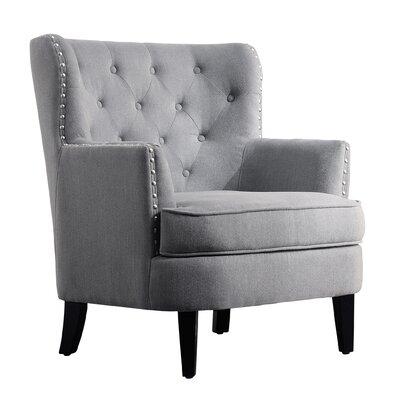 Chrisanna Wingback Chair Upholstery: Gray